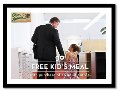 Kids Eat Free At Olive Garden On April 25th With Printable Coupon