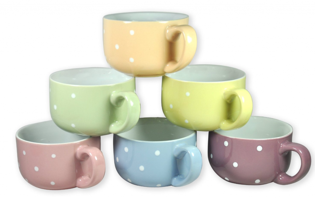 Polka Dot Soup Mugs