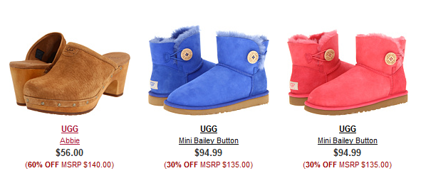 67a7241e42b 6pm.com UGG Sale: Up to 79% off, Starting at $12.99 + FREE Shipping!