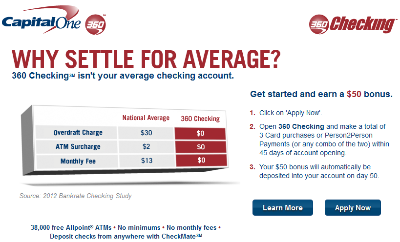 Capital one open checking account coupon : Online coupon