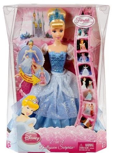 Disney Princess 2-in-1 Ballgown Surprise Cinderella Doll ...