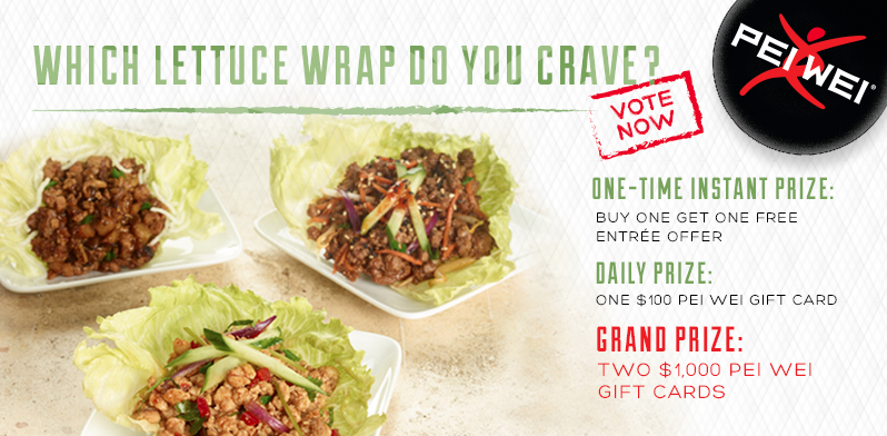 Pei Wei Coupon: Buy One, Get One FREE Lettuce Wraps + Enter to Win ...
