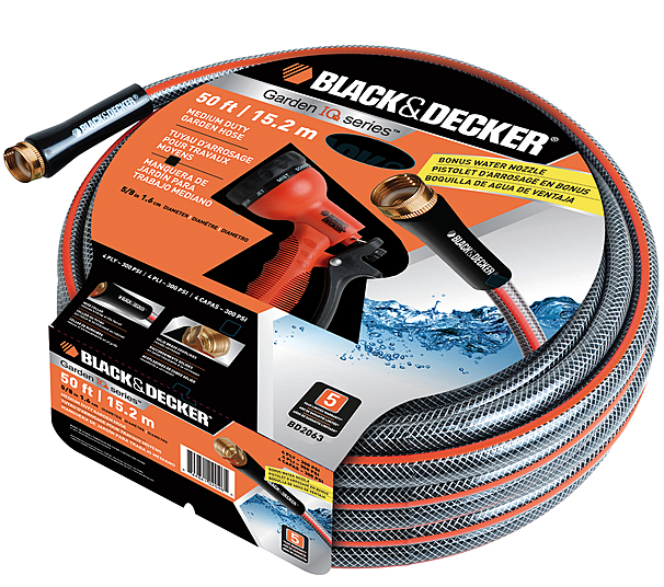 Black Decker 50 Foot Garden Hose Bonus Water Nozzle Only