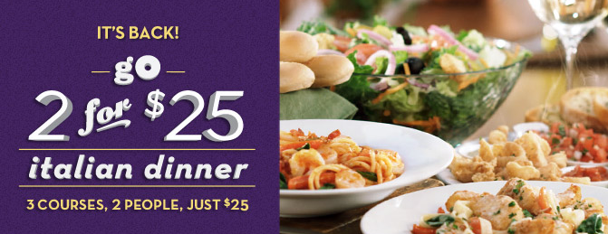 Olive garden coupon 5 off 2 dinner entrees Does olive garden have take out