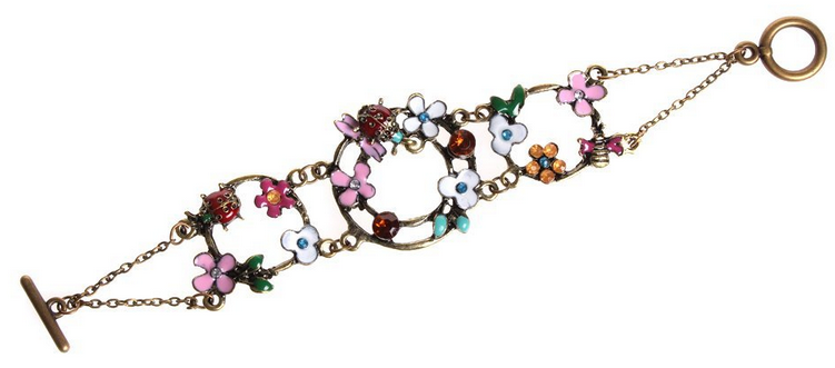 classic vintage flowers and dragonfly bracelet only  1 59