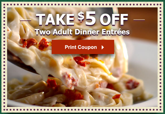 Two New Olive Garden Coupons Save 3 At Lunch 5 At Dinner