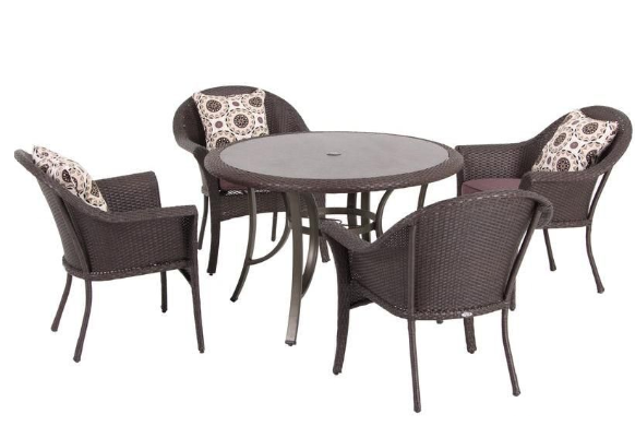 Hampton Bay Vista 5 Piece Patio Dining Set Down From 599 Free Shipping