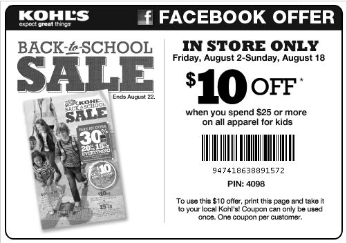 Printable coupon for kohls in store purchase