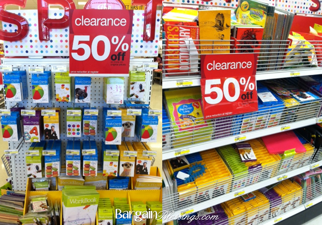 target dollar spot clearance 50 off school supplies and