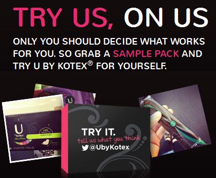 FREE Sample Packs frm U by Kotex!