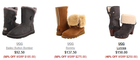 ugg-boots. Don't forget that shipping is always FREE on all orders through 6pm. You can also use the menus on the left hand side of the screen to narrow ...