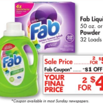 *HOT* FREE Fab Laundry Detergent at Family Dollar with Stack!