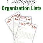 FREE Printable Christmas Organization Lists 2014!