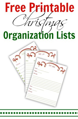 free printable christmas organization lists - Christmas Lists 2014