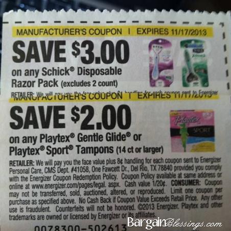 Schick razor coupons october 2018