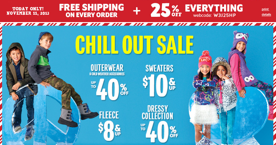 Childrens Place Coupon Code and In-Store Printable Coupon for September 2015