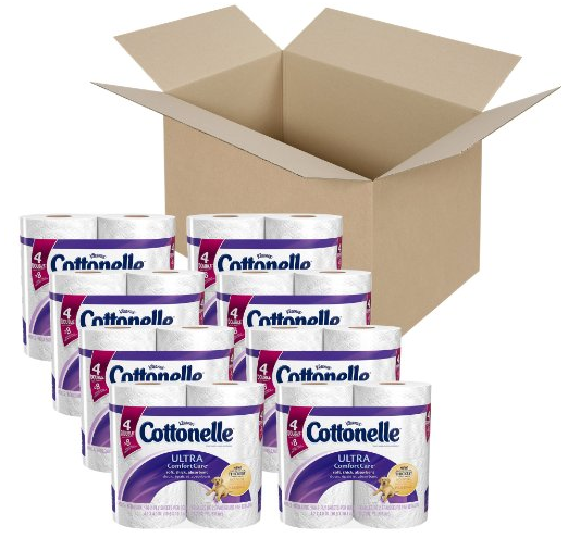 cottonelle ultra comfort care toilet paper 32 pack of double rolls just. Black Bedroom Furniture Sets. Home Design Ideas