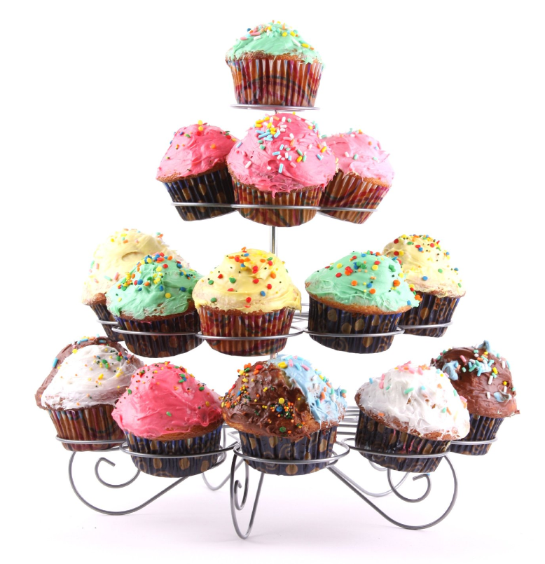 Tiered Cupcake Stand Holds Up To 23 Cupcakes Only 8 95