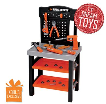 Black Amp Decker Jr Play Workbench Only 21 24 From Kohl S