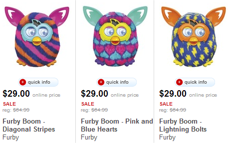 furby boom for just  from target save another with the red card