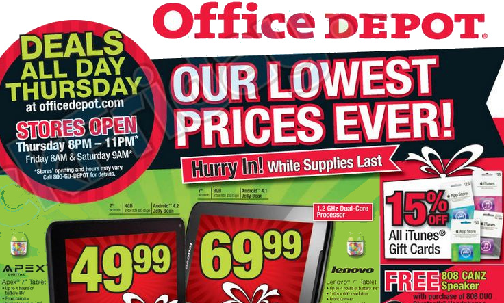 Office depot black friday deals 2013 online and in store for Deals by depot