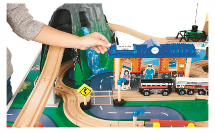 Imaginarium mountain rock train table only free for 100 piece mountain train set and wooden activity table