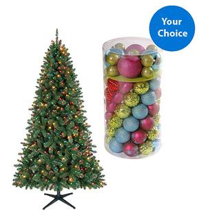 Walmart Christmas Tree Deals: 6.5 Foot Pre-Lit Tree + Ornament Set ...