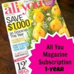 All You Magazine 1-Year Subscription for Only $5!