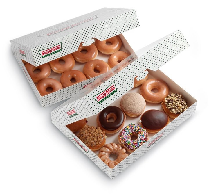 buy one dozen krispy kreme doughnuts  get another dozen