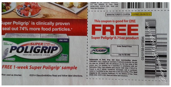 FREE Super Poligrip at Walmart: Great Donation Item!