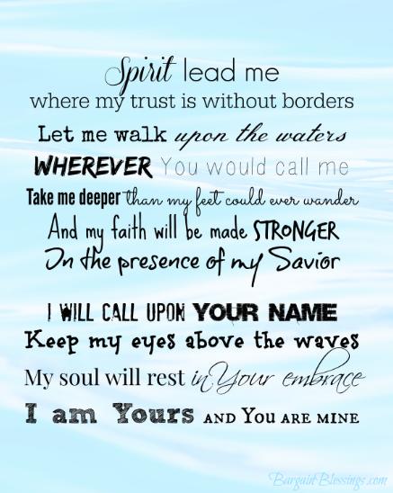 Faithful Friday: Spirit Lead Me