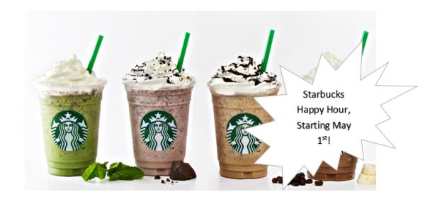 Starbucks Frappuccino Happy Hour: 1/2 Price Frappuccinos
