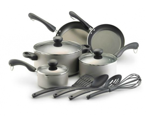 Farberware Dishwasher Safe Non-Stick 12-Piece Cookware Set ...