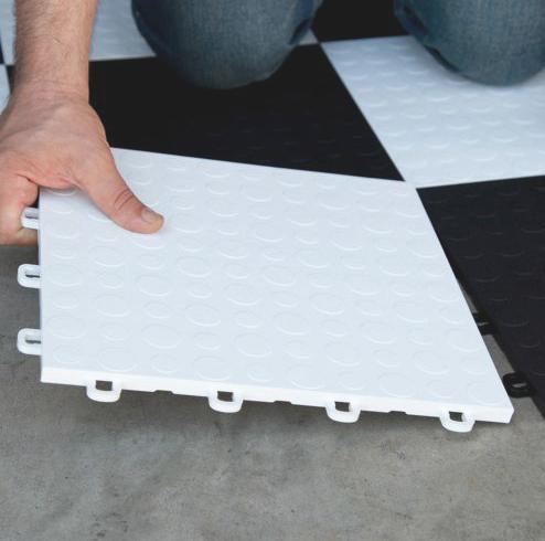 BlockTile Modular Interlocking Garage Floor Tiles Set of 30 Just ...