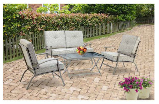 Mainstays Zahara 4 Piece Folding Patio Conversation Set