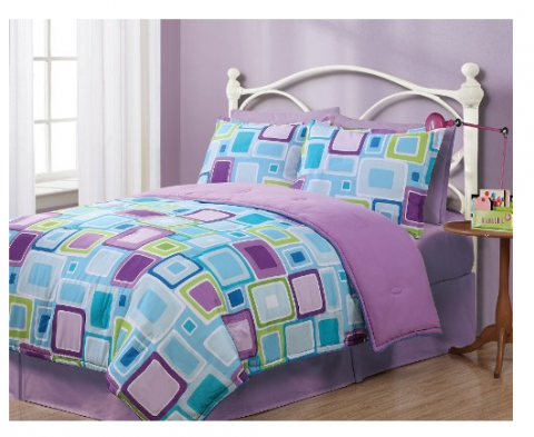 Nice Twin Geo Aqua Square Reversible Comforter Set Just down from