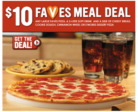 image relating to Papa Murphys Coupons Printable identify Papa Murphys Printable Coupon: $10 FAVES Evening meal Package deal!