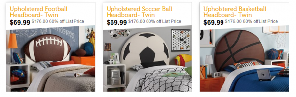 Upholstered Sports Themed Headboards Just 69 99 Down