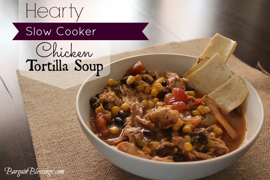 Hearty slow cooker chicken tortilla soup - Defrost chicken safe way ...