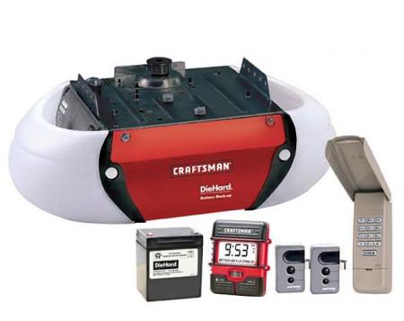 Craftsman Garage Door Opener With Diehard Battery Back Up