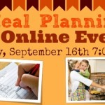 Join Me for a FREE Online Meal Planning Class: Tuesday, September 16th!