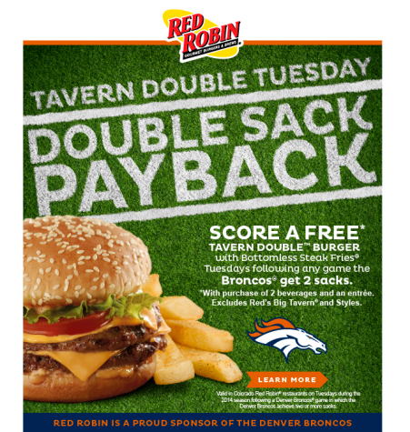 Food deals when broncos win