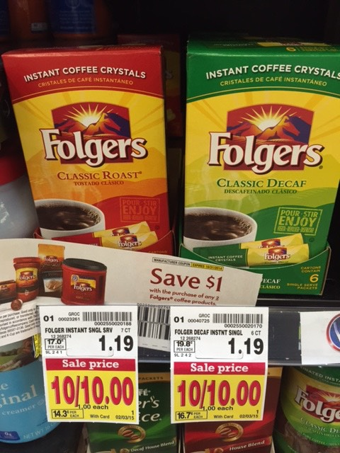 Folgers Coffee Singles Coupons