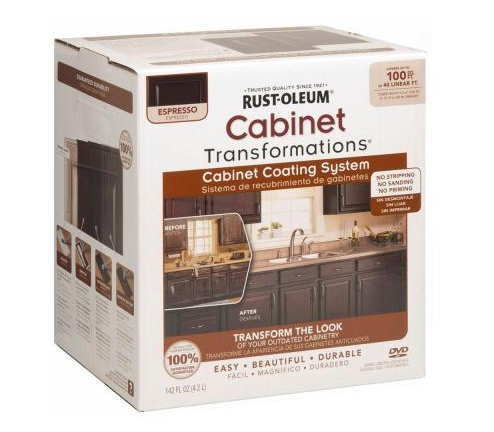 rustoleum kitchen cabinet kit rust oleum transformations espresso small cabinet kit 44 25791