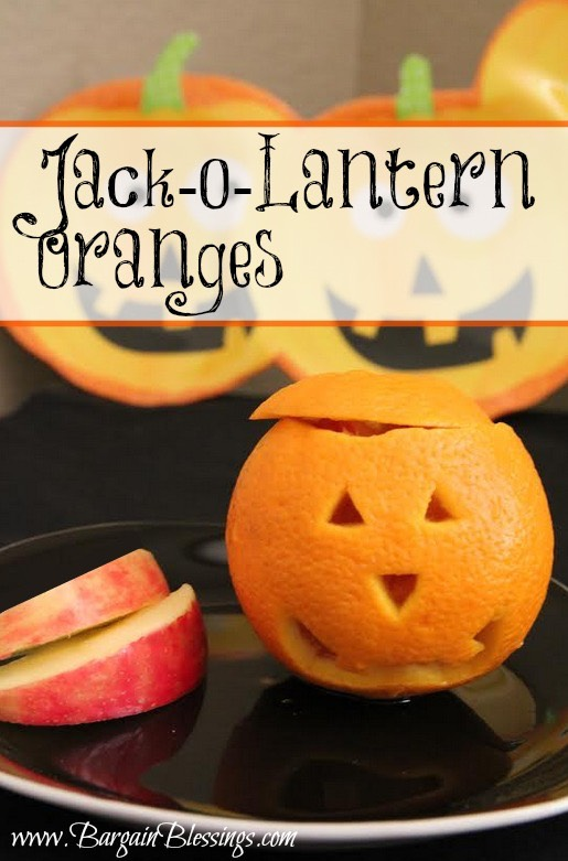 Healthy halloween ideas jack o lantern oranges