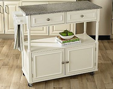 Sandra Lee Kitchen Cart With Granite Top 129 59 Down