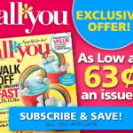 *HOT* All You Exclusive Subscription Offer: Only .63 Per Issue!