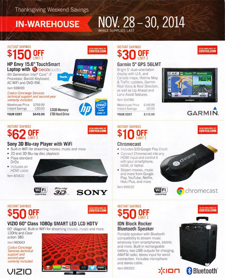 Costco Black Friday Deals And Ad 2014: Top Deals Online