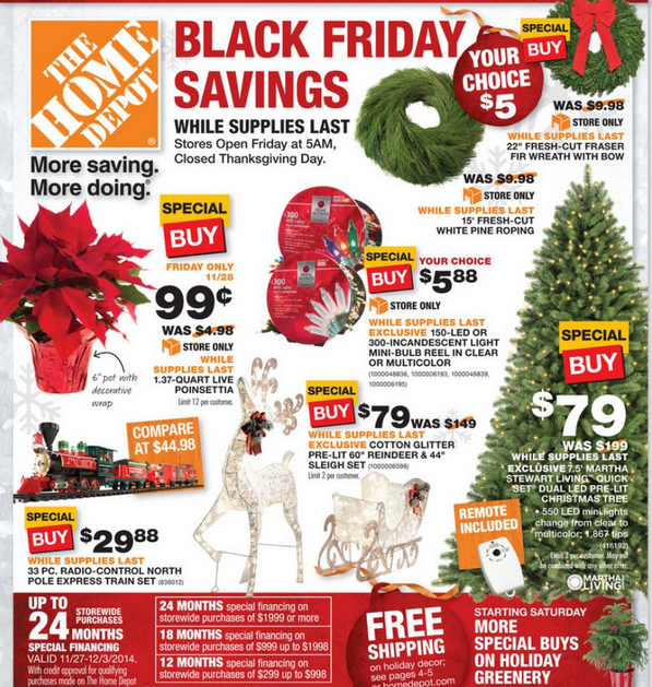 home depot black friday deals 2014 tools appliances decorations and more. Black Bedroom Furniture Sets. Home Design Ideas