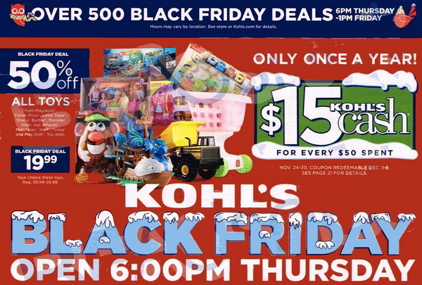 Kohl's allows shoppers to stack up to four coupons with purchases. Kohl's has three types of coupons that can be used by everyone or with a Kohl's credit card (Kohl's Charge). Sitewide Coupons - Discounts of 15%, 20% or 30% off everything including sale and clearance.
